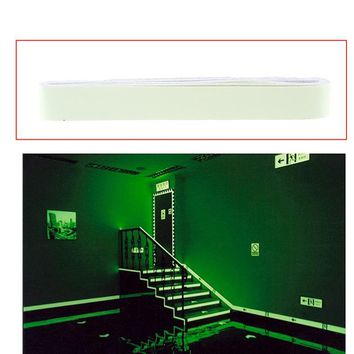 4m DIY Anti Slip Safety Decal Self Adhesive Luminous Tapes Stripes Glow in The Dark Wall Sticker Fluorescent Tapes Home Decor