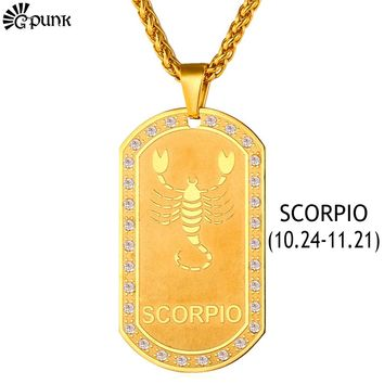 Gold Necklace Scorpio Zodiac Signs
