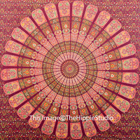 Bohemian Tapestries, Hippie Tapestries, Tapestry Wall Hanging, Mandala Tapestries, Wall Tapestries, Indian Tapestry, Dorm Bedding, Wall Art