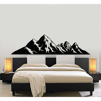 Vinyl Wall Decal Beautiful Landscape Mountain Winter Nature Stickers Mural (g477)