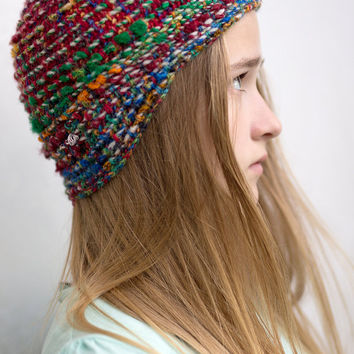Crocheted Hat -- Rainbow VI