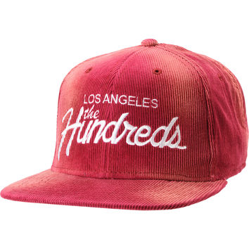 The Hundreds Team Maroon Corduroy Snapback Hat at Zumiez : PDP