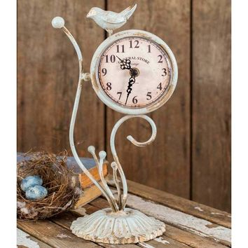 Shabby Chic Songbird Desk Clock