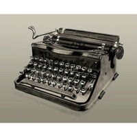 Vintage Typewriter Remington Rand Art Print