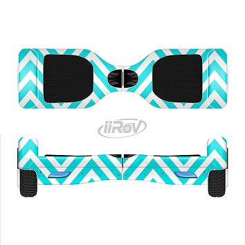 The Trendy Blue Sharp Chevron Pattern Full-Body Skin Set for the Smart Drifting SuperCharged iiRov HoverBoard