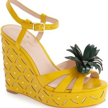 kate spade new york 'dominica' pineapple wedge sandal (Women) | Nordstrom