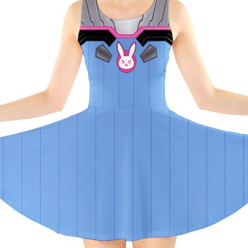 OVERWATCH D.VA Inspired Skater Dress - Preorder