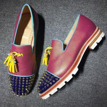 DCCK Cl Christian Louboutin Loafer Style #2320 Sneakers Fashion Shoes