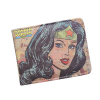 DC Wonder Woman Wallet Fashion Cartoon Superwomen Wallet Super Hero Purse Personalized Women Anime Wallet For Teens Girl Student