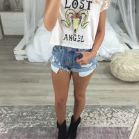 Lost Angel Skull Babydoll Tee