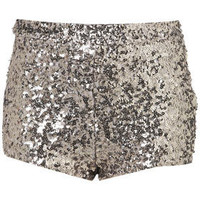 Silver Sequin Knickers - Shorts  - Apparel