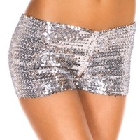 Music Legs Sequined Booty Shorts