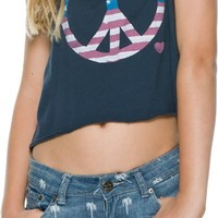 JUNK FOOD AMERICAN FLAG PEACE SIGN TANK