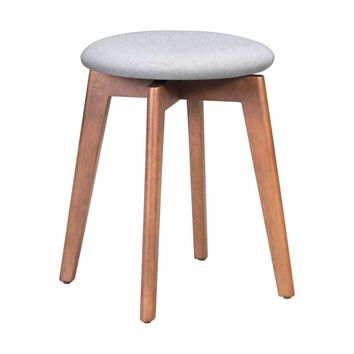 Billy Stool Walnut & Light Gray (set of 2)
