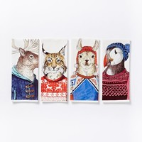 Dapper Animal Tea Towel Set