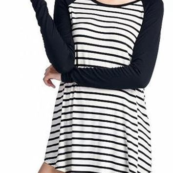 Striped Raglan Tunic Tee