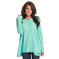 Waffle Knit V-Neck in Aqua Sky by The Southern Shirt Co. - FINAL SALE