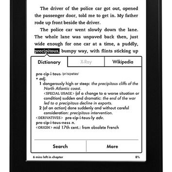 """Kindle Paperwhite, 6"""" High Resolution Display (212 ppi) with Built-in Light, Wi-Fi - Includes Special Offers (Previous Generation - 6th)"""