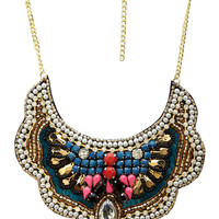 Bejeweled Bib Necklace
