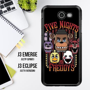 Five Nights At Freddy'S Characters Z4221 Samsung Galaxy J3 Emerge, J3 Eclipse , Amp Prime 2, Express Prime 2 2017 SM J327 Case