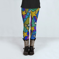 Shooting Stars Pattern by Hippy Gift Shop (Leggings)