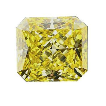 Corners Canary Radiant Cut Diamond Veneer Loose Stone