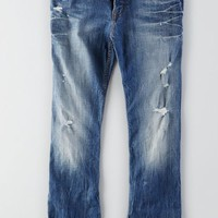AEO Men's Classic Bootcut Core Flex Jean (Medium Bright Destroy)