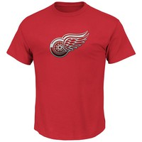 Majestic Detroit Red Wings Lightweight Tek Patch Tee