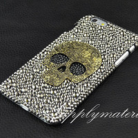 "Bling Crystal skull phone case for iPhone 4/4S/5s/ 5c or iphone 6 4.7""/Plus cover or for samsung s3/s4/s5/note2/note3/note4 phone case"