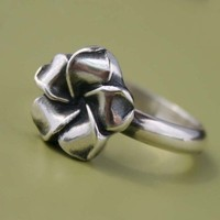 Plumeria Flower Ring Sterling Silver Hawaii by KiraFerrer on Etsy