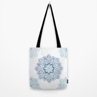 Icy Cold Outside Tote Bag by Lena Photo Art