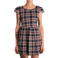 Hearts & Bows Navy Flack Tartan Skater Dress
