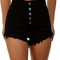Black Raise The Bar Shorts