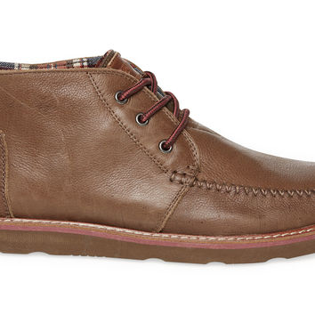 TOMS Chocolate Leather Men's Chukka Boots Brown