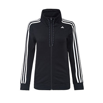"""Adidas"" Women Stripe Long Sleeve Cardigan Sportswear Zip Sweater Tops"