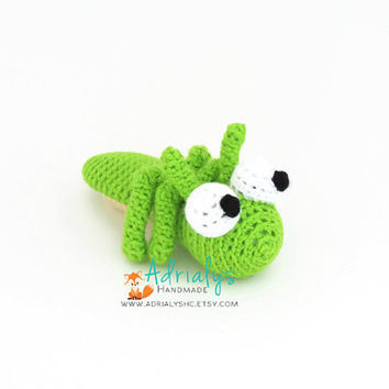 Crochet Grasshopper | Crochet Animals | Crochet Toy | Amigurumi Grasshopper | Bugs | Grasshopper Toy | Crochet Amigurumi | Made to Order