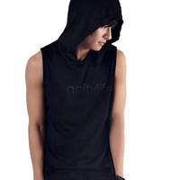 5 Men's T-Shirt Male Casual T-Shirt Style With A Hood Sleeveless Shirt 10