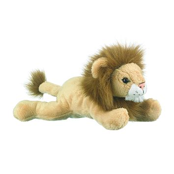 9 Inch Laying Lion Floppy Plush Zoo Stuffed Animals
