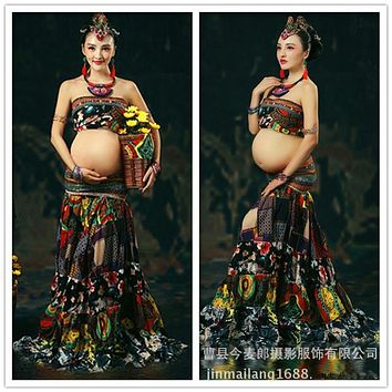 Hot Women Dresses maternity photography dress gown clothing maternity photography props maternity clothes long pregnancy dresses