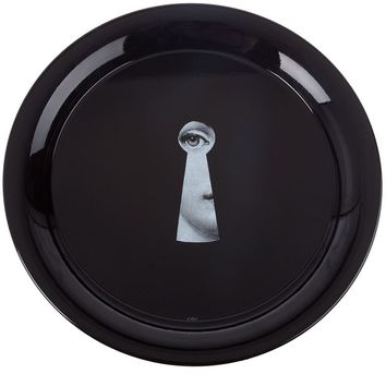 "Fornasetti ""Serratura on black"" Tray"