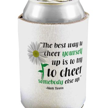 Cheer Yourself Up Mark Twain Can / Bottle Insulator Coolers