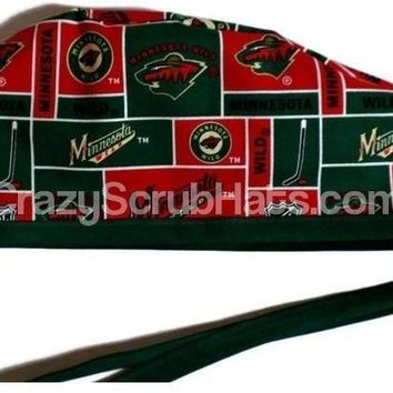 Men's Unlined Surgical Scrub Hat Cap in Minnesota Wild