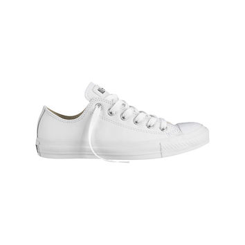 Buy Converse Chuck Taylor All Star Ox Leather Trainers, White | John Lewis