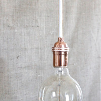 Modern Edison Pendant Light Kit // Copper by SoAndSoDesigns