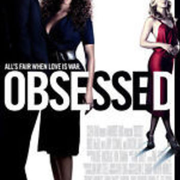 Obsessed Movie Poster 27x40 Double Sided Used Nelson Mashita, Monica Ford, Christine Lahti, Idris Elba, Beyonce Knowles, Scout Taylor-Compton, Bryan Ross, Bruce McGill, Meredith Roberts, Richard Ruccolo, Ali Larter, Ron Rogge, Jerry O'Connell
