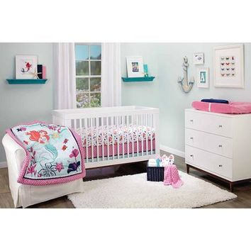 Disney Ariel Sea Treasures 3-Piece Crib Bedding Set - Walmart.com