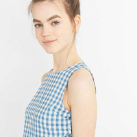 Urban Renewal Vintage Remnants Blue Gingham Co-Ord Top - Urban Outfitters