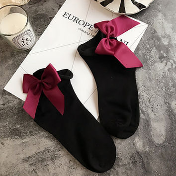Ankle Socks With Bows
