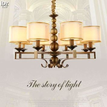 American retro imitation copper iron lamp minimalist living room bedroom rustic restaurant Ceiling Lights OLU-0109