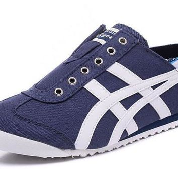 asics japan onitsuka tiger dark blue white unisex running shoes sneakers trainers  number 1